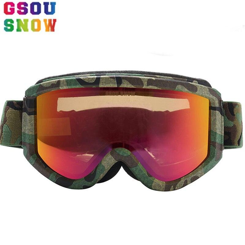 Gsou neige multi-couleur hommes femmes lunettes de Ski hiver extérieur professionnel Snowboard lunettes Protection unisexe sport neige lunettes