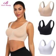 Women Sexy Bras Crop Top Fitness Sports Sleepwear Bra Women Seamless Tops Push Up One Piece Bra Plus Size S-XXXL B