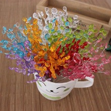 20PCS,Length:15CM,Fashion Acrylic Crystal Drop Beads,Party Favors Spray Display Flowers bouquet,Wire Stems,Wedding Decorations