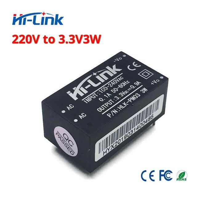 משלוח חינם 2 יח\חבילה היי קישור HLK PM03 220v 3.3V 3W AC DC מיני גודל מבודד צעד למטה אספקת חשמל מודול