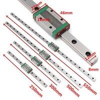 1pc Miniature MGN12H Linear Sliding Guide Block 250 300 400 500mm For CNC 3D Printer