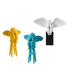 цена на Nordic Style Angel Baby Model Figurines Creative Baby Girl Resin Craft Ornament Miniatures Home Decor Accessories Birthday Gifts