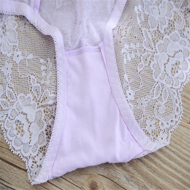 3827eb3ef ... Sexy Lace Girl s Panties Briefs Underwear Underpants Seamless Transparent  Teenage Underwear Kids Pants Knickers Solid Colors ...
