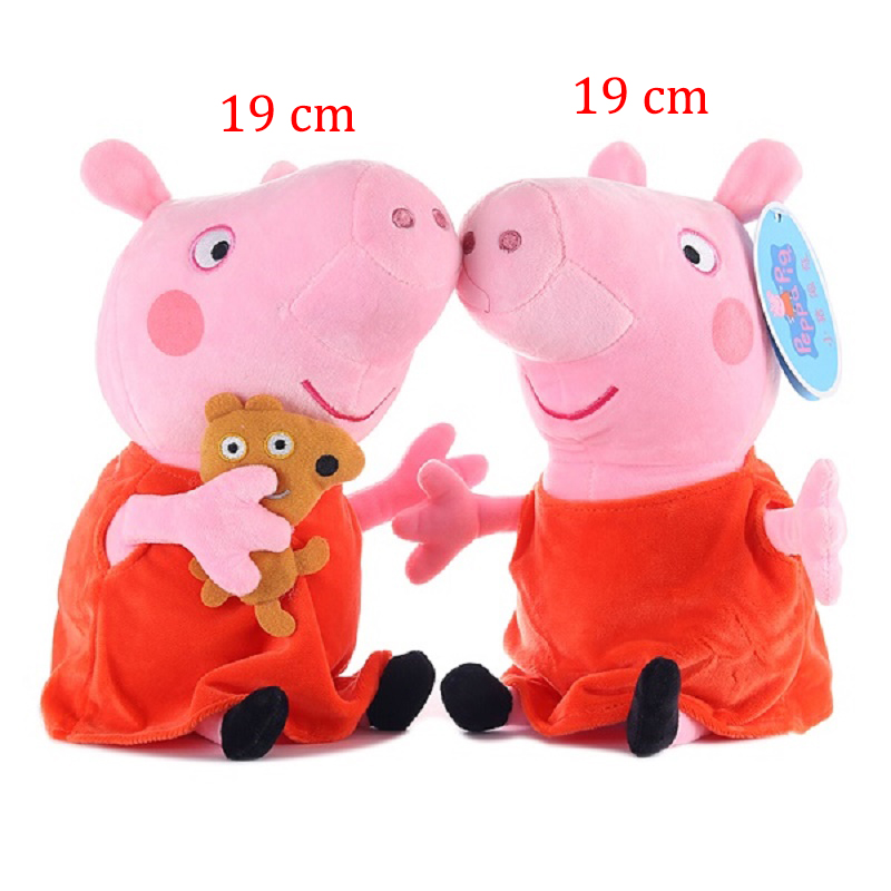 Image 3 - Peppa pig George pepa Pig Family Plush Toys 19 & 30 cm peppa pig bag Stuffed Doll Party decorations Schoolbag Ornament Keychain-in Movies & TV from Toys & Hobbies
