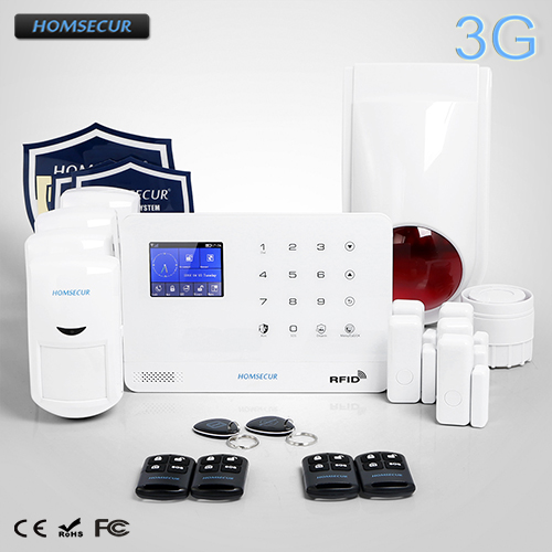 HOMSECUR Wireless LCD 3G/GSM RFID SMS Autodial Burglar Alarm System LA02-3G