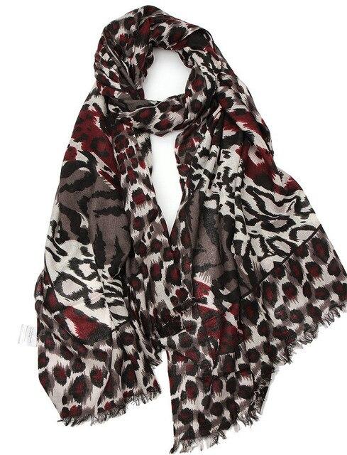 ef59579a99bd Soie cachemire mélange imprimé léopard femmes de mode mince écharpe châle  pashmina 65x190 cm