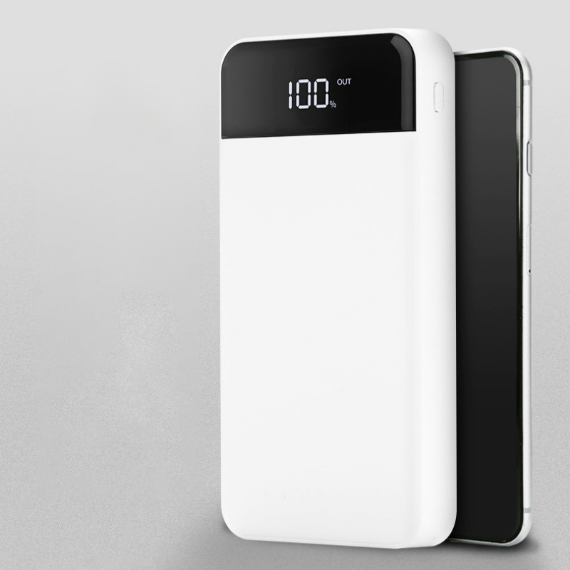power bank 20000 mAh 4 USB mobile power LCD digital display portable charger bateria externa for iphone x Samsung xiaomi