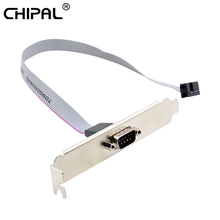 CHIPAL para la placa base 9 Pin hembra a RS232 DB9 Pin Com Puerto cinta conector de Cable serie soporte con cable