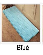 Antislip Velvet Bathroom Door Mat Absorbent Bath Mat Slow Rebound Memory Foam Bathroom Carpet Microfiber Floor Rug 40*120cm