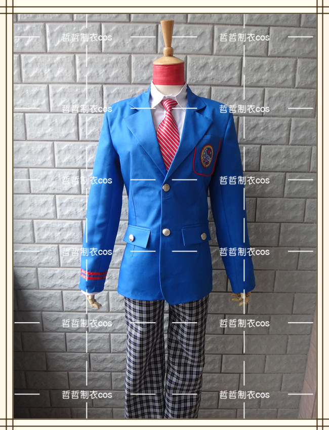 Masked Rider Kamen Rider Fourze Amanogawa High school Uniform New Cosplay Costume with tie