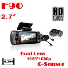 "Venta superior calidad de Hight F90G Coche DVR Independiente Grabadora de Cámaras con GPS Logger + 2.7 ""LED + HD 1080 P + H.264 Envío Gratis"
