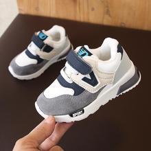 Осенне-зимняя детская обувь для маленьких мальчиков и девочек; Детские повседневные теплые кроссовки; дышащая мягкая спортивная обувь для бега; размеры 21-30