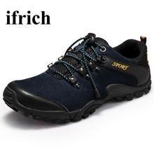 Ifrich Мужская Открытый скальные туфли черный/коричневый горные ботинки мужчины весна/осень мужские треккинговые кроссовки кожаные Уличная обувь