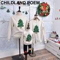 2016 рождество семьи сопоставления одежда зима руно рождество дерево мать и дочь одежда семья посмотрите мать сын наряды