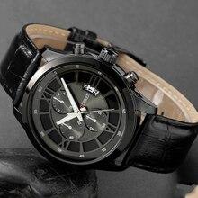 CURREN Moda Hombres Deportes Relojes hombres de Cuarzo Horas Fecha Reloj de Hombre Correa de Cuero Militar Del Ejército Reloj Impermeable Masculino 8137