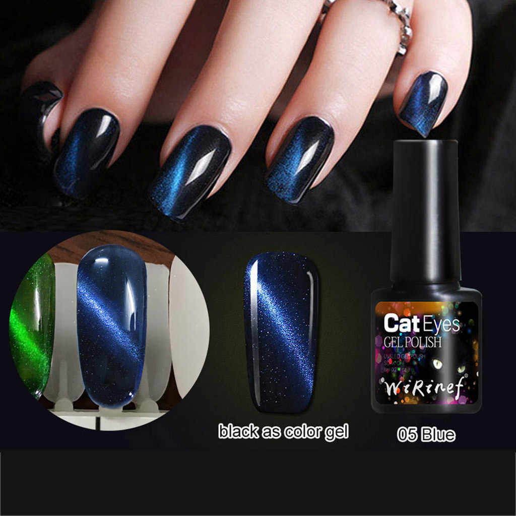 8ml Magic 3D Gel de ojo de gato esmalte de uñas Soak Off magnético barniz Gel polaco LED UV semipermanente pegamento Nail Art manicura