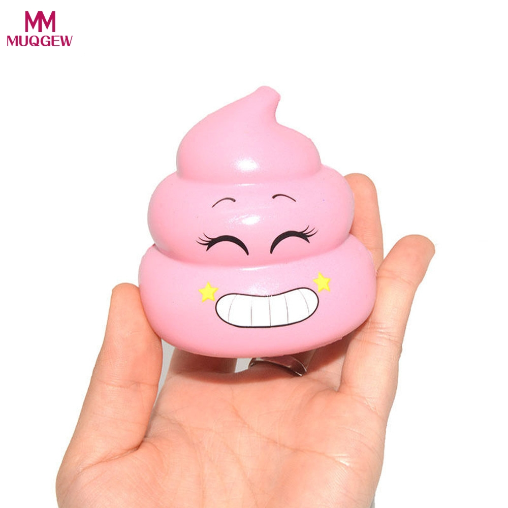 Fun antistress Crazy Poo 7cm Squeeze Toys Squishy Ball Slow Rising Poo Pink Healing Stress Hand Fidget vent Toy Fun Gift