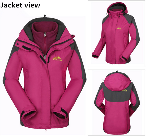 Mountainpeak Women Cycling Jackets 2pcs Sets Softshell Inner Thermal Fleece Hiking Jacket Windproof Waterproof Riding Jacket in Cycling Jackets from Sports Entertainment