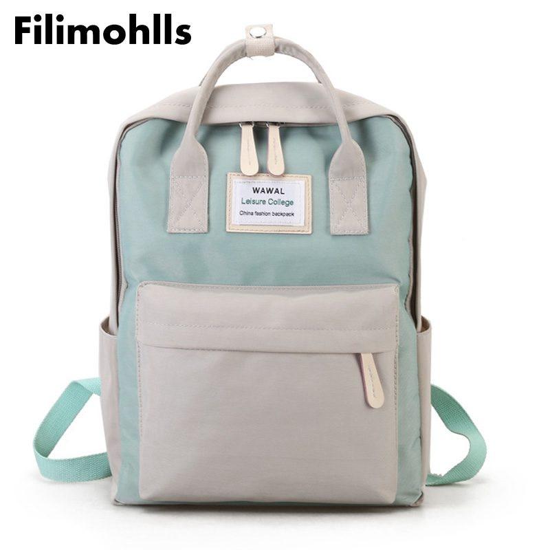 купить School bags for teenage girls Cute Canvas fashion Backpack female backpack design for girls leisure travel school luggage F-93 онлайн