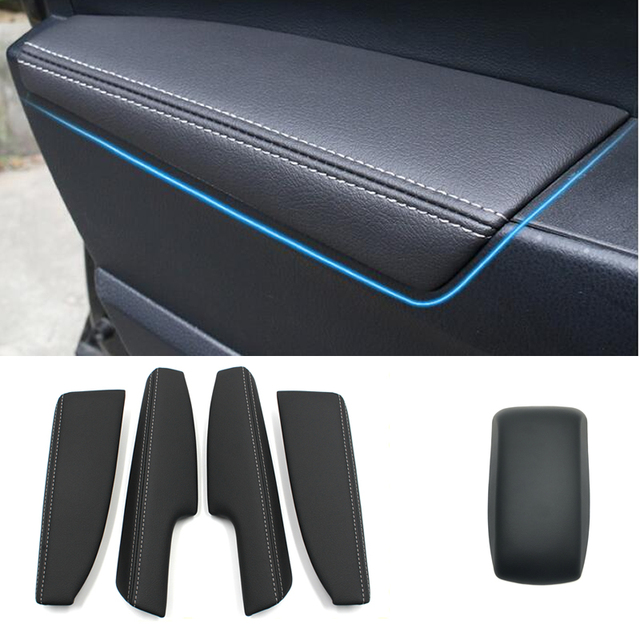 Auto leather Centeral Arm Rest Cover door armrest cover for toyota corolla 2014 2017 car styling