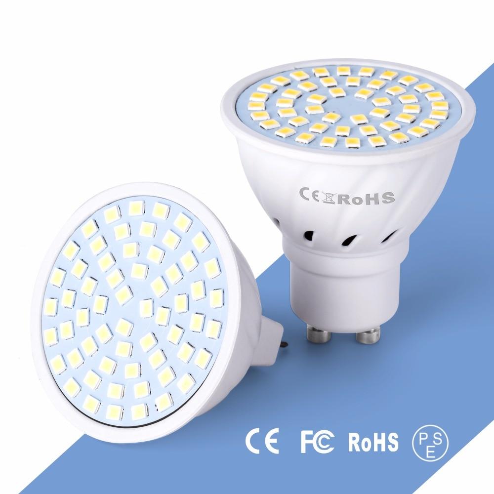 GU10 Ampoule Led Spotlight Bulb E27 Lamp E14 2835 Chandelier Modern Lighting 220V 4W 6W 8W MR16 LED Light Bulbs 48 60 80leds B22