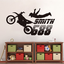 Free Shipping Dirt Bike Motocross Motorcycle Wall Stickers Boys Room Home  Decor Vinyl Mural Wall Decal Part 74