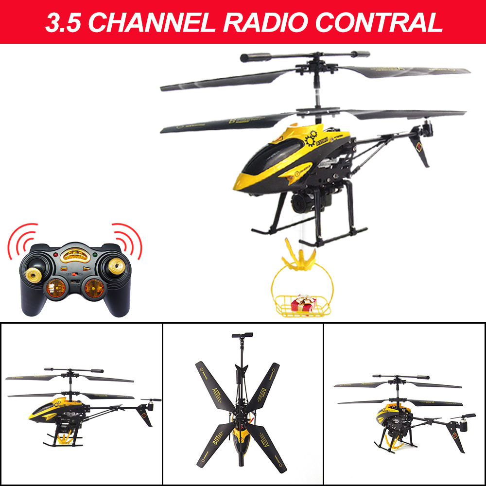 Lying Mini RC Helicopter Remote toy Drones Hanging basket helicopter Gyro Radio Control Metal Alloy Mini drone Toys Xmas Gifts in RC Helicopters from Toys Hobbies