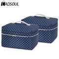 Nueva llegada de gran capacidad de bolsa de cosméticos bolsa de maquillaje Coreano dot bolso de las mujeres bolsa de lona bolsa de viaje grande de almacenamiento portátil sh470/g