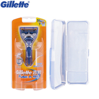 Gillette Fusion Mens Razor Beard Shavers Manual Shaving Safety Razors 1 Holder 1 Blade With 1