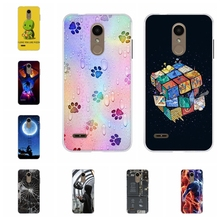 все цены на For LG K8 2018 Phone Cover Ultra-thin Soft TPU Silicone For LG K8 2018 Protective Case Lion Patterned For LG K9 Coque Bumper онлайн