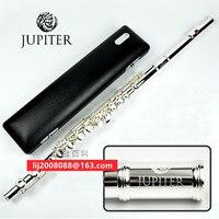 Высокое качество Флейта Юпитер JFL 511ES 16 закрытых отверстий клавишу C серебрение флейта новичок flauta поперечные чехол для музыкального инстру