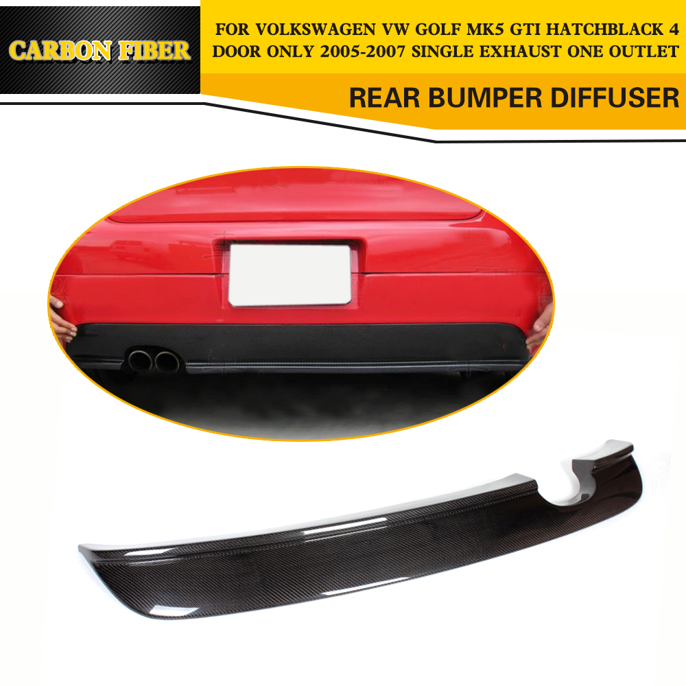 Carbon Fiber Car Rear Bumper Lip spoiler Diffuser For VW Volkswagen Golf 5 GTI Only 2005 2006 2007 Two Style