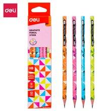 DELI Graphite Pencils for School Cute Pencil HB 1 Box(12PCS) Drawing Pencil Set Pencils for Kids E37006 недорого