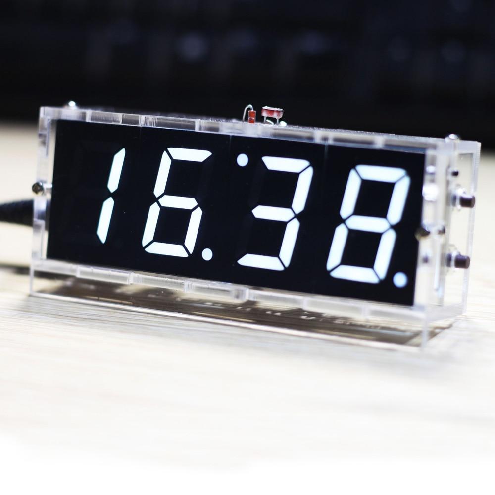 Stylish Digital Clock DIY Kit Compact 4 digit DIY LED ...