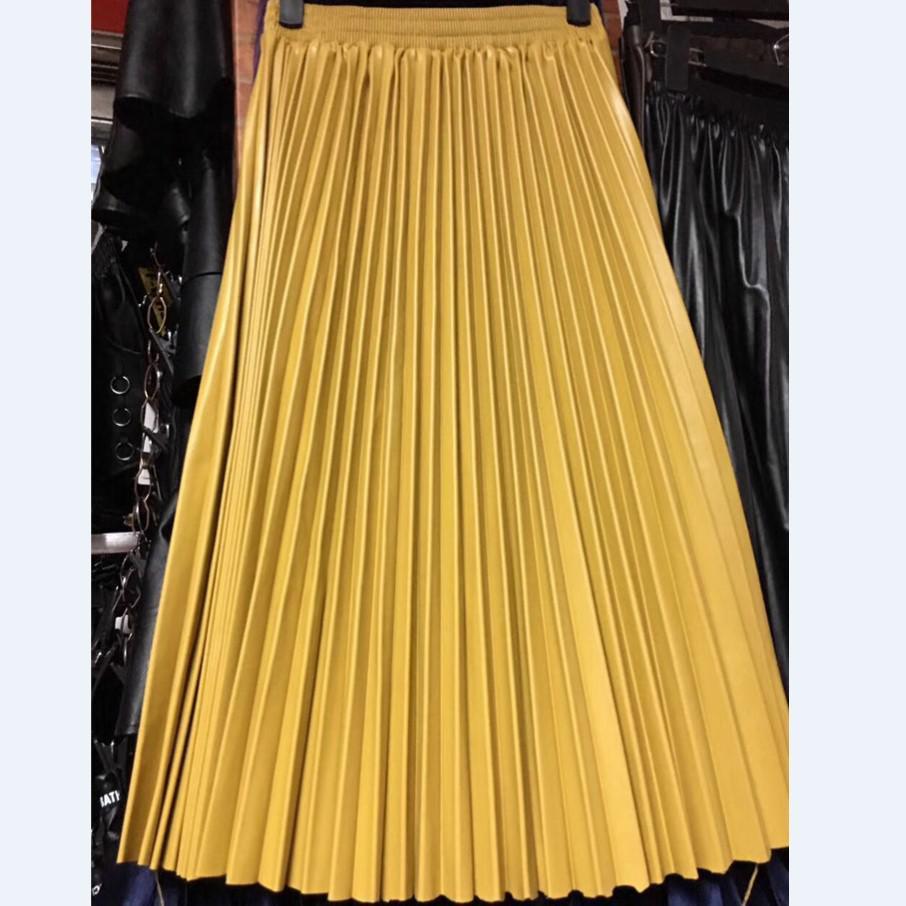Compra pleated skirt faux pu y disfruta del envío gratuito en AliExpress.com 76b4e34194ec