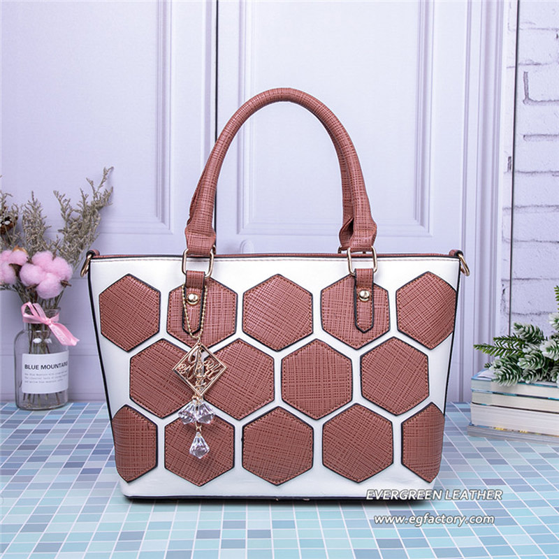 d5225d7aa3e3 China online wholesale trendy PU women tote bag big handbag with accessories  SH664-in Shoulder Bags from Luggage   Bags on Aliexpress.com