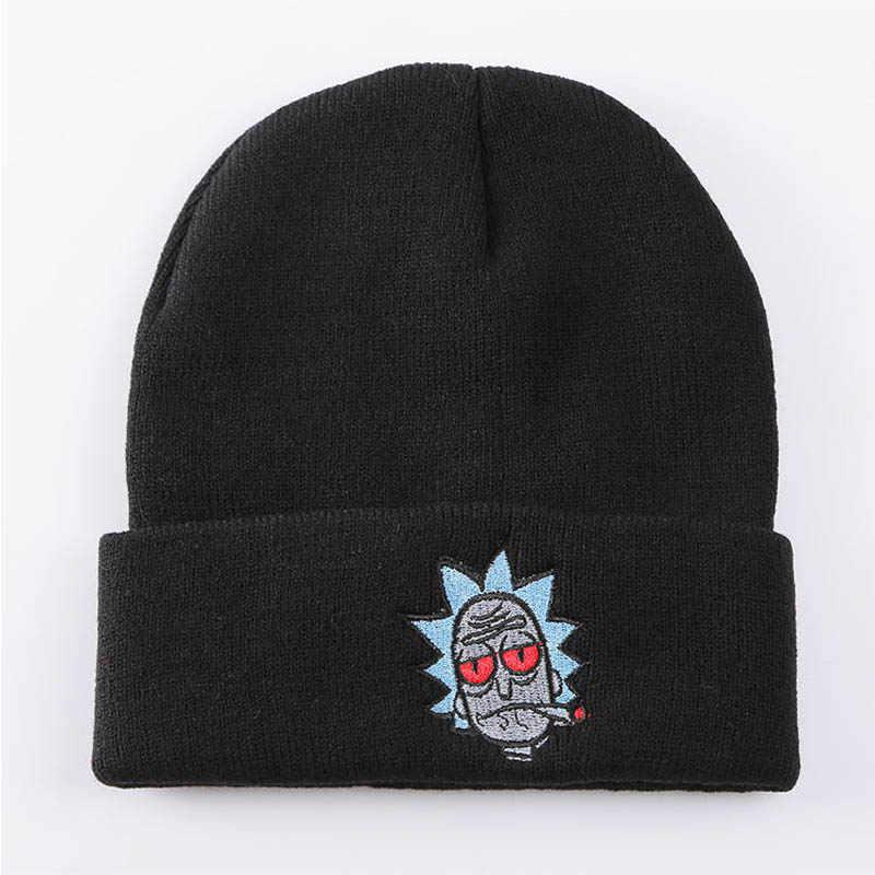 f024b2a1e5e ... Women Men Beanies Hats Elastic Embroidery Warm Winter Unisex Knitted Hat  Skullies Cartoon Ski Gorros Cap