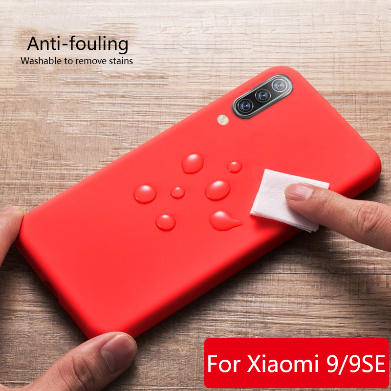Soft case for xiaomi mi 9 Luxury liquid silicone phone xiomi mi9 se Squishy Bumper cover