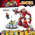 Горячая Marvel Мстители Ironman MK44 HulkBuster броня Строительный Блок Халк Алые Ведьма MK17 Ultron цифры legoe игрушки