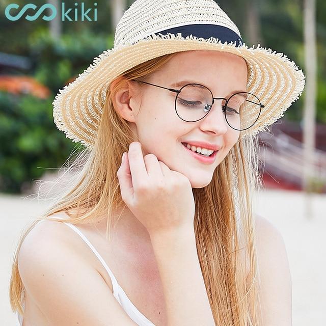 b68fc60c6d732 KIKI Olho Óculos de Metal Redondo Retro Quadro Mulheres Homens Óculos Frames  Limpar Lente de Vidro