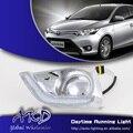 One-Stop Shopping para Toyota Vois DRL Daytime Running Luz LED DRL 2014 Novo Vois Carro Cromo luz de Nevoeiro Acessórios automotivos
