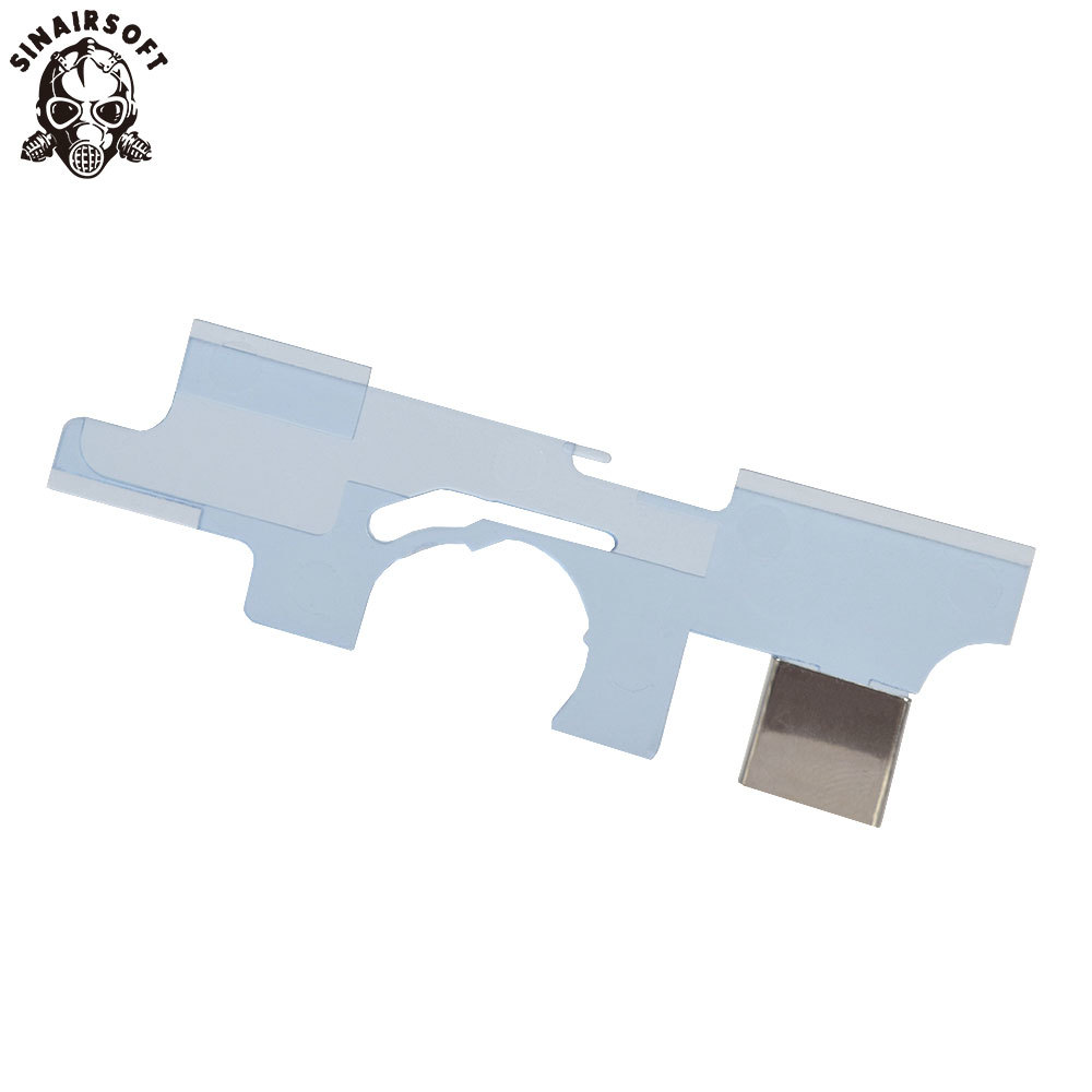 SHS High Quality Transparent Anti-Heat Selector Plate For H&K B&T MP5 Series Airsoft AEG Hunting Accessories