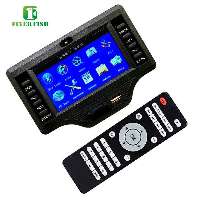 Caisson de basses Bluetooth amplificateur carte 50 W * 2 + 100 W 4.3 pouces LCD Audio Bluetooth récepteur décodeur MP4/MP5 vidéo décodage DC12V