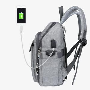 Image 3 - USB dinant la chaise imperméable sac à couches pour maman maternité Nappy sac à dos bébé poussette organisateur siège soins infirmiers sac à langer soins