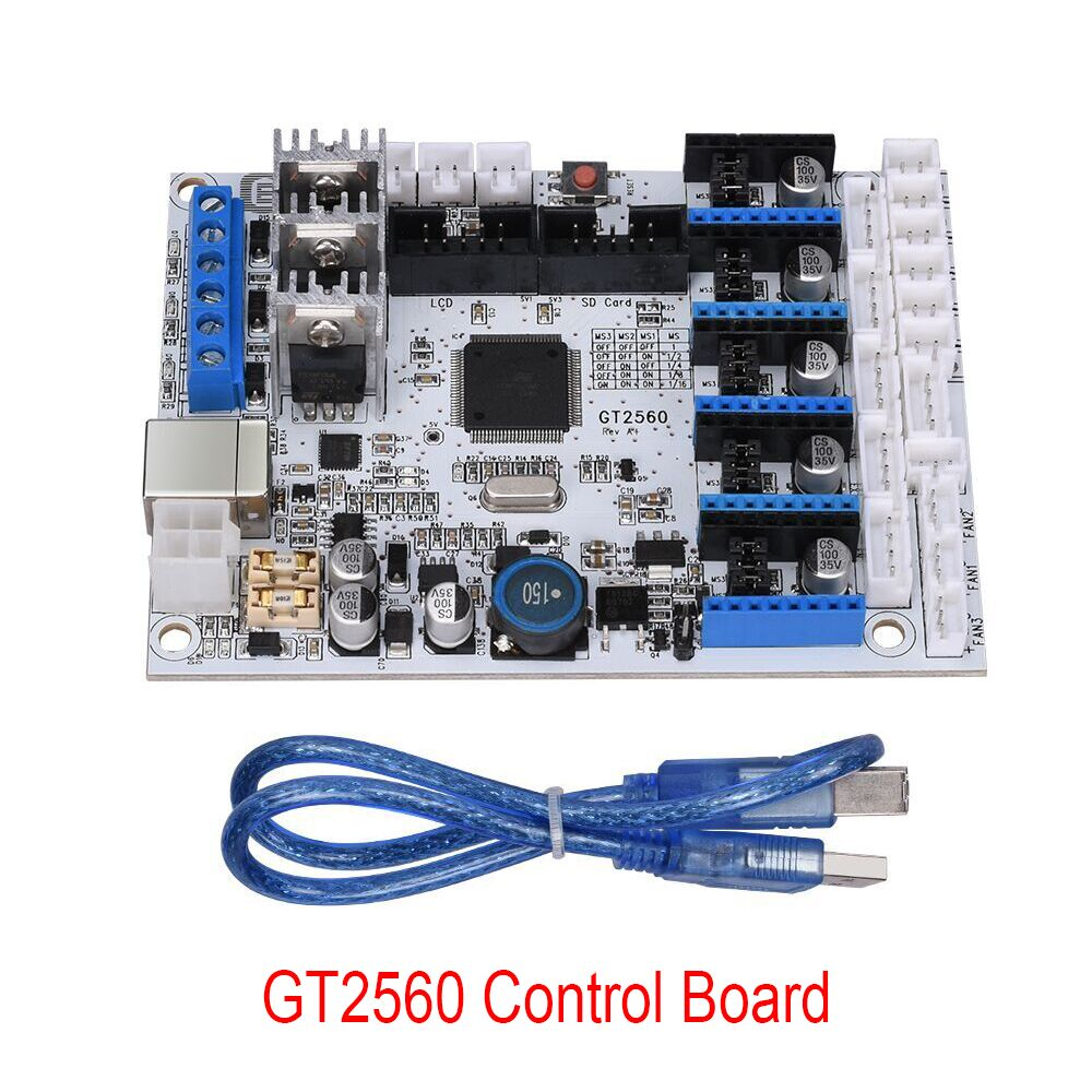 3D Printer Control Board GT2560 with Data line Support A4988 Driver Dual Extruder Power Than ATmega2560 Ultimaker Ramps 1.4 gt2560 3d printer controller board atmega2560 ramps1 4 ultimaker prusa with a4988 stepper driver support dual extruder power