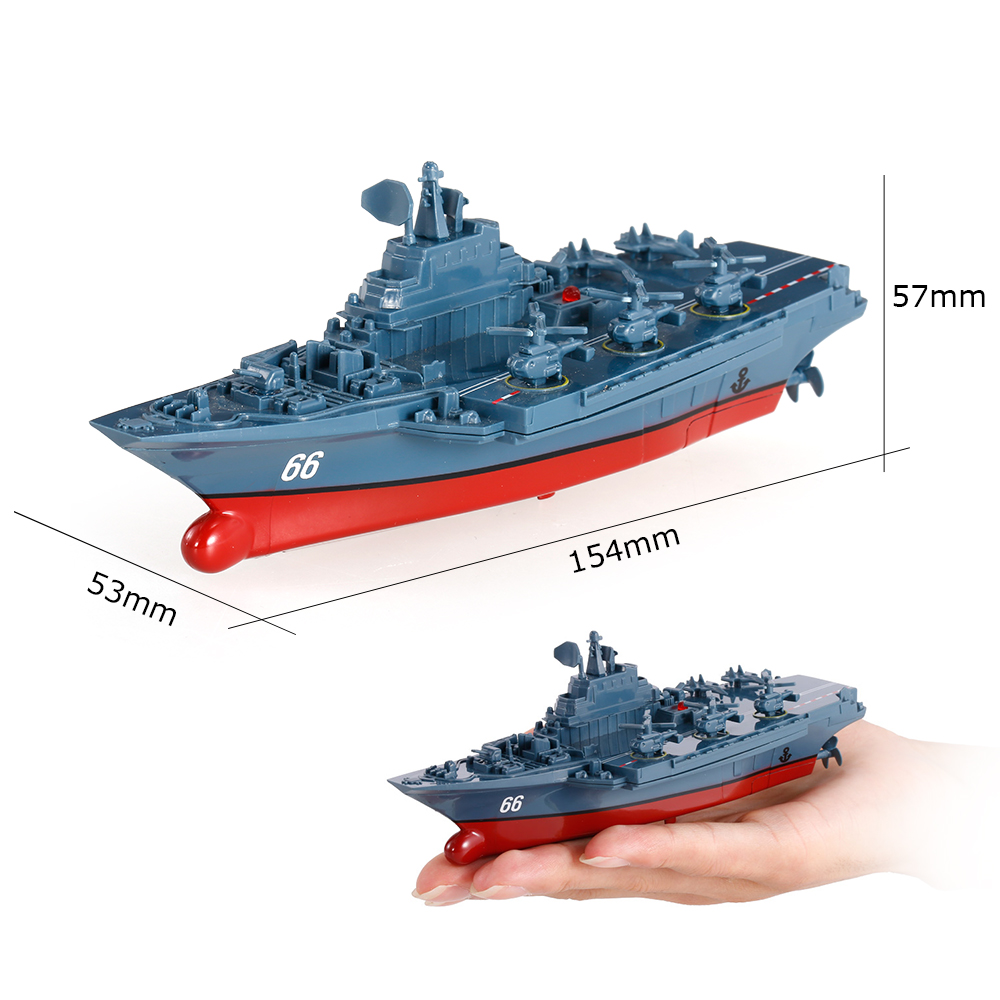 Remote Control Toys RC Boat Sea Star 3319 2.4GHz All Direction Navigate Mini Radio Control Electric Aircraft Carrier Model RTR (7)