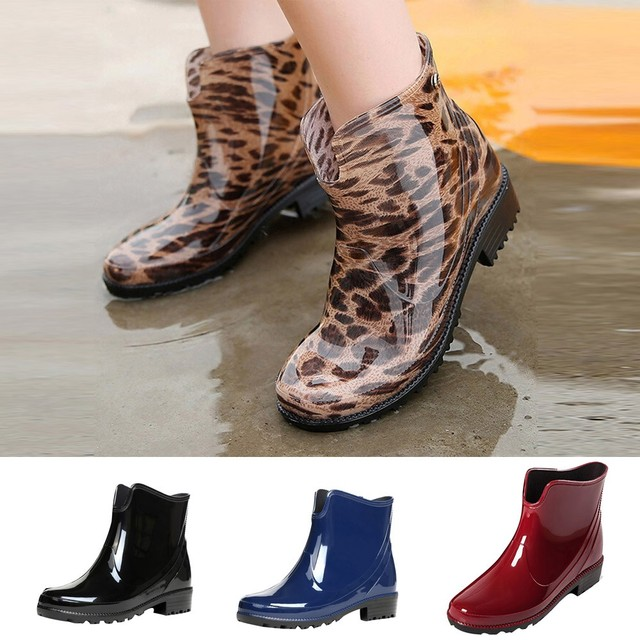 Xiniu 2018 Short Water Boots Waterproof Rain Boots Women Chelsea Boots  Outdoor Anti Slip chaussures femme fa016292ca3