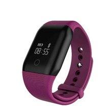 2016 Новый дизайн сезона A88 сердечного ритма Фитнес Touchpad OLED Экран smart bluetooth группа Водонепроницаемый Браслет Смарт Напульсники