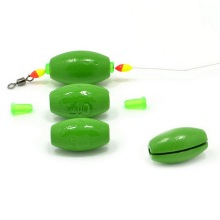 1Pc Hot Sale Premium Fish Lure Hook Shank Connector Lead Bullet Weights Fishing Sinkers Green 2g-70g