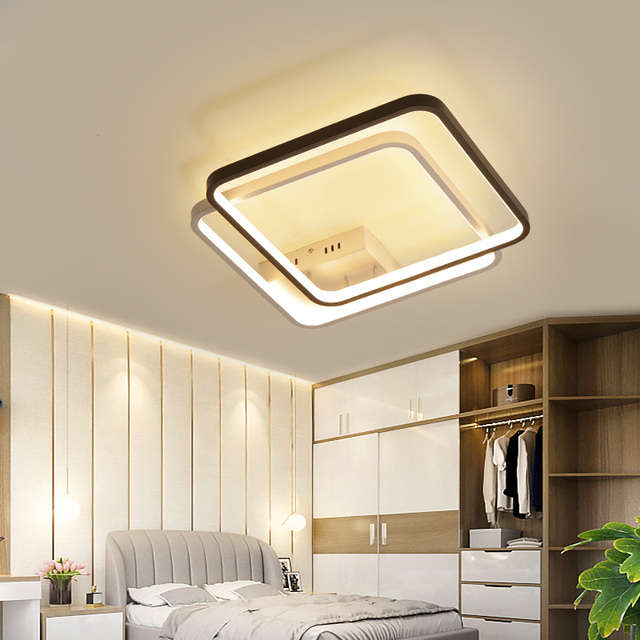 NEO Gleam 420x420mm Modern Led ceiling lights for bedroom study room living room white+black color home deco ceiling lamp